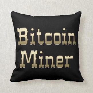 Bitcoin Miner (On Black) Pillow
