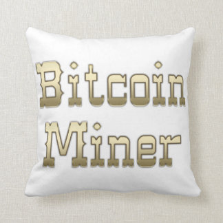 Bitcoin Miner Throw Pillow