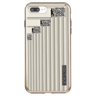 Bitcoin Miners Grayscale Men Add QR Codes Biz Incipio DualPro Shine iPhone 8 Plus/7 Plus Case