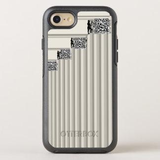 Bitcoin Miners Grayscale Men Add QR Codes Biz OtterBox Symmetry iPhone 8/7 Case
