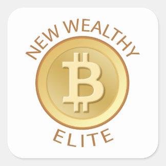 Bitcoin - New Wealthy Elite Square Sticker