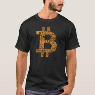 Bitcoin Not Bombs - Cloud black t shirt