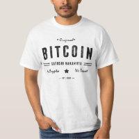Bitcoin Original Satoshi Crypto Logo T Shirt
