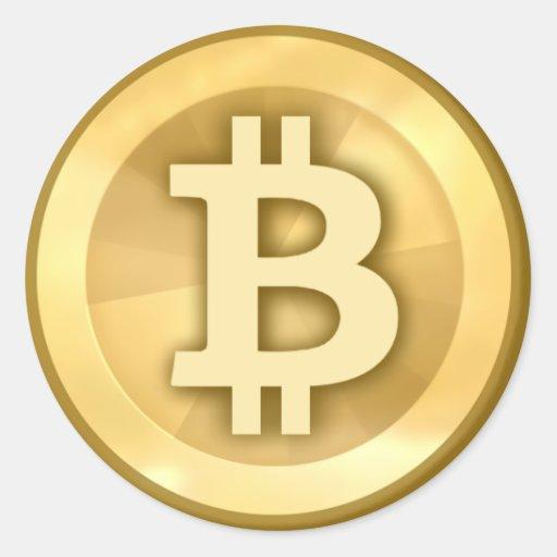 Bitcoin (paquete de 6/20) etiqueta redonda