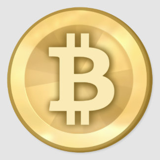 Bitcoin (paquete de 6/20) pegatina redonda