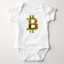 BITCOIN/PATTERN-Onsie Baby Bodysuit