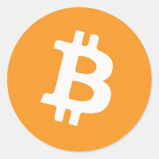 Bitcoin Pegatina Redonda