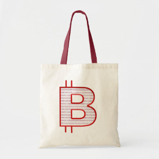bitcoin red tote bag