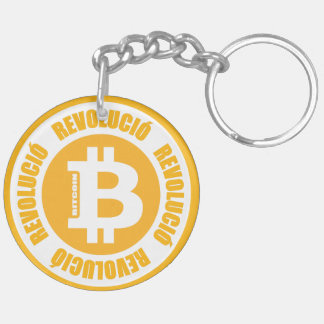Bitcoin Revolution (Catalan Version) Double-Sided Round Acrylic Keychain
