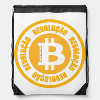 Bitcoin Revolution (Portuguese Version) Drawstring Bag
