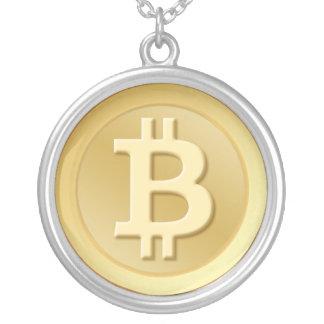 Bitcoin Round Pendant Necklace