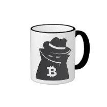 "Bitcoin ""shady guy"" ringer mug"