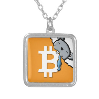 BITcoin Silver Plated Necklace
