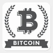 Bitcoin square stickers