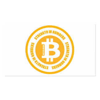 Bitcoin Strength In Numbers Business Card Template
