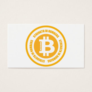 Bitcoin Strength In Numbers Business Card