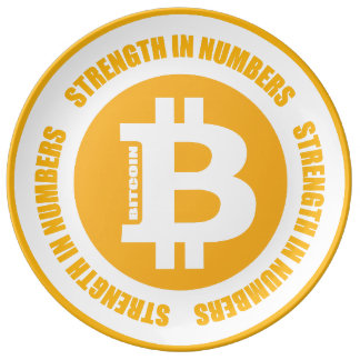 Bitcoin Strength In Numbers Dinner Plate