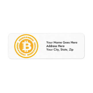 Bitcoin Strength In Numbers Label