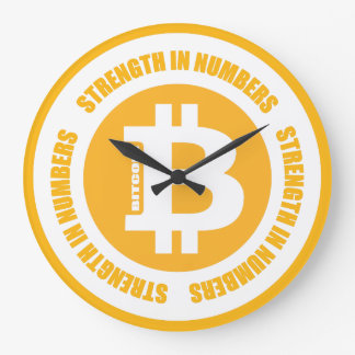 Bitcoin Strength In Numbers Large Clock