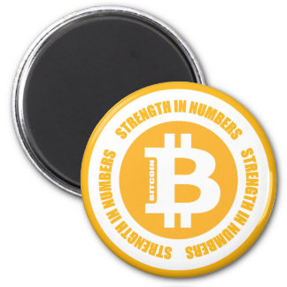 Bitcoin Strength In Numbers Refrigerator Magnets