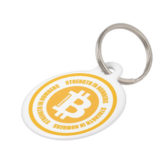 Bitcoin Strength In Numbers Pet Name Tag