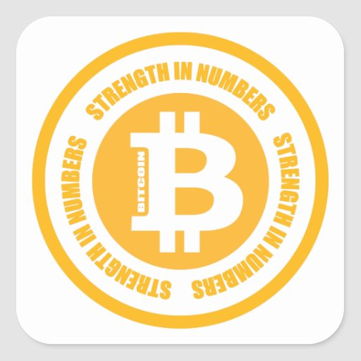 Bitcoin Strength In Numbers Sticker