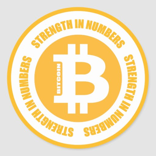 Bitcoin Strength In Numbers Stickers