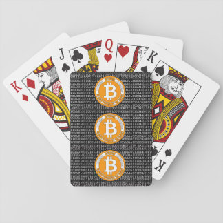 Bitcoin style poker cards with binary code - M1