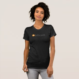 Bitcoin t shirt with orange and white logo