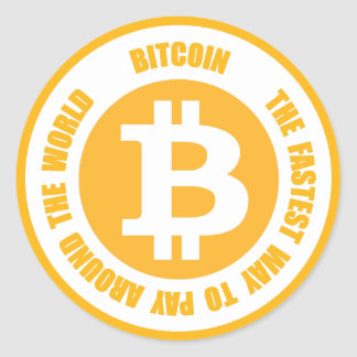 Bitcoin The Fastest Way To Pay Around The World Classic Round Sticker