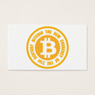 Bitcoin The New Currency Of The 21st Century Business Card