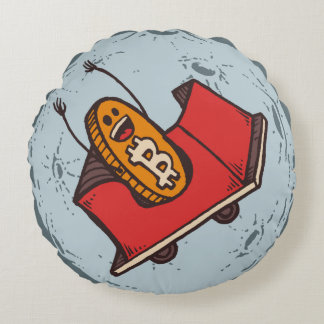 Bitcoin to the Moon Pillow