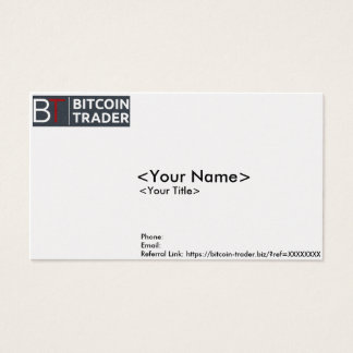 Bitcoin-Trader Business/Contact Card
