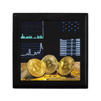 Bitcoin trio circuit market charts clean keepsake box