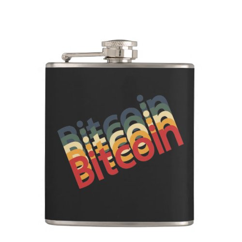 Bitcoin Vinyl Wrapped Flask