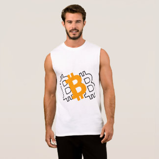 Bitcoin - virtual currency for a digital age sleeveless shirt