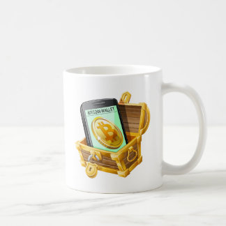 Bitcoin Wallet in Pirate Chest Mug