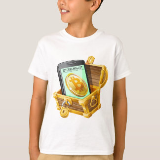 Bitcoin Wallet in Pirate Chest ND T-Shirt