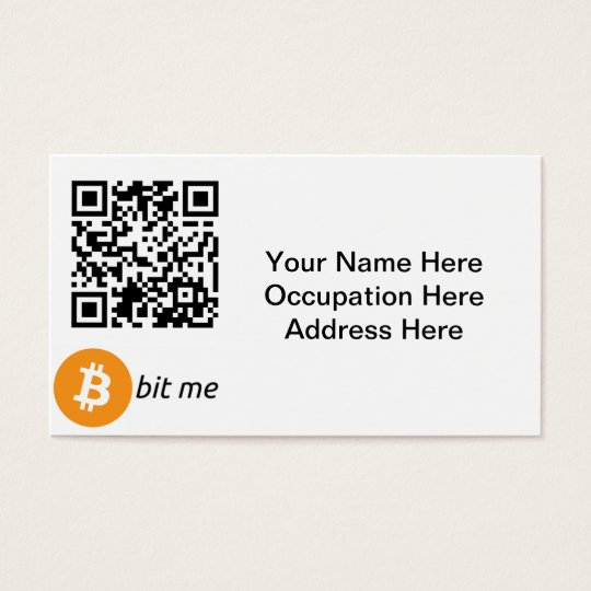 Bitcoin Wallet QR Code Business Cards | Zazzle