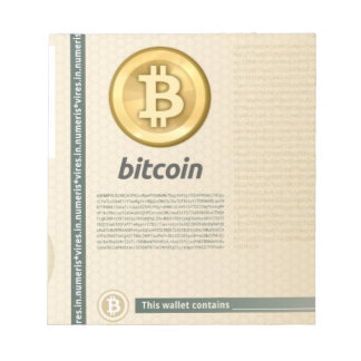 Bitcoin wallet scratch pads