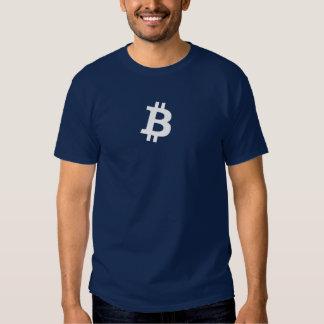 Bitcoin White B (HQ Dark Colors Shirt) Tshirt