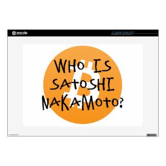Bitcoin - Who is Satoshi Nakamoto? Laptop Decal