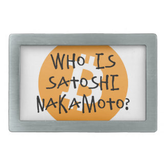 Bitcoin - Who is Satoshi Nakamoto? Rectangular Belt Buckle