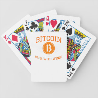 Bitcoin wings bicycle playing cards