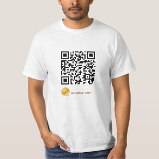 bitcoins accepted here shirt