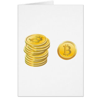 Bitcoins Greeting Cards