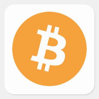 Bitcoins Pegatina Cuadrada