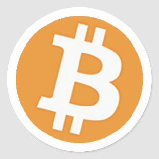 BitCoinSticker Pegatina Redonda