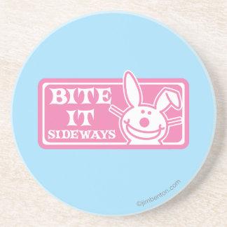 Bite it Sideways Drink Coaster