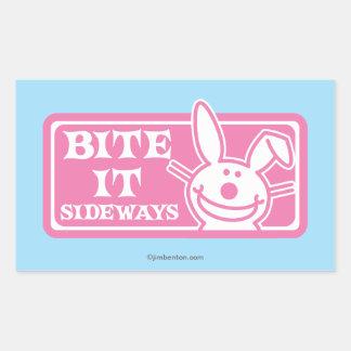 Bite it Sideways Rectangular Sticker